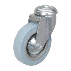 Поворотное полипропиленовое колесо с серой резиной