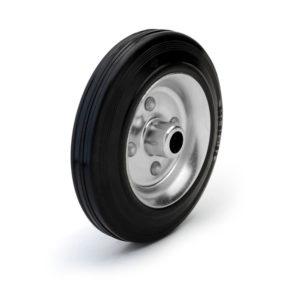Стальное колесо без кронштейна с черной резиной C 85 - фото 1